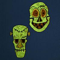 Oppheng av selvlysende masker av hardfolie