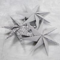 7-tagget stjerne av kvadratisk papir