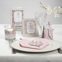 Kortserie med rosa Pearl kartong og rhinsten