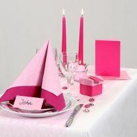 Inspirasjon til fest med pink og rosa borddekking, bordpynt m.m.