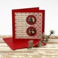 Julekort med cabochoner og designpapir fra Vivi Gade