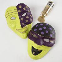 Malte pappmasker med glitter