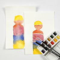 Akvarell blokkfarger i praksis