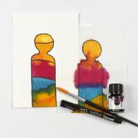 Å male med flytende akvarell