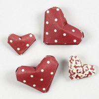 Hjerter i miniformat av stjernestrimler