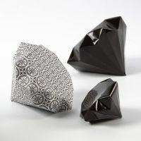 Brettet diamant av Paris designpapir fra Vivi Gade