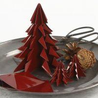 Juletre av brettet, blankt origamipapir