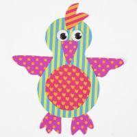 Papegøye av mønstret kartong