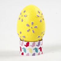 Egg med preget mønster malt med hobbymaling