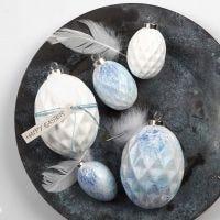 Sprøytemalte egg av terrakotta