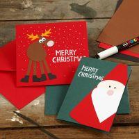 Kort med julemotiver av kartong