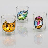 Lysglass med vindusmaling