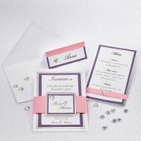 Bryllupskort med rammer av sølv kartong og strukturpapir