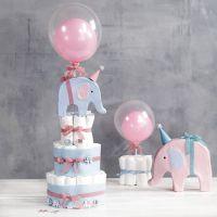 Bleiekake med elefant og ballonger