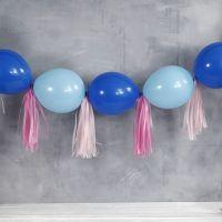 Ballong ranke av kjedeballonger og dusk