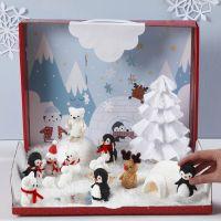 Polarlandskap med minifigurer av Foam Clay