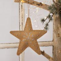Juleoppheng av lærpapir med borderi