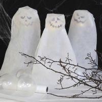 Spøkelser av ballonger med LED-lys