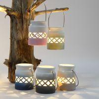 Lanterner malt med fargegraduering