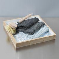 Enkle strikkede oppvaskkluter