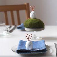 Kanin bordkort laget av Fimo Air