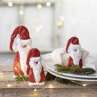Julenisse av gips på sjablong