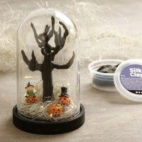 Halloween mini landskap i klokke