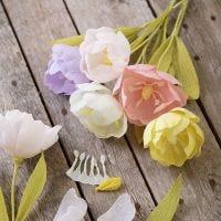 Tulipan papirblomst af crepepapir